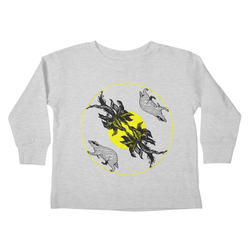 Hufflepuff House Kids Toddler Longsleeve T-Shirt by Wild Roots Artist Shop