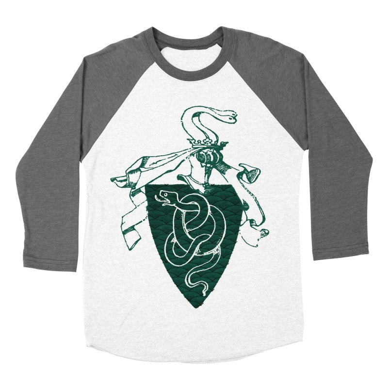 Slytherin House Men's Baseball Triblend T-Shirt by Wild Roots Artist Shop