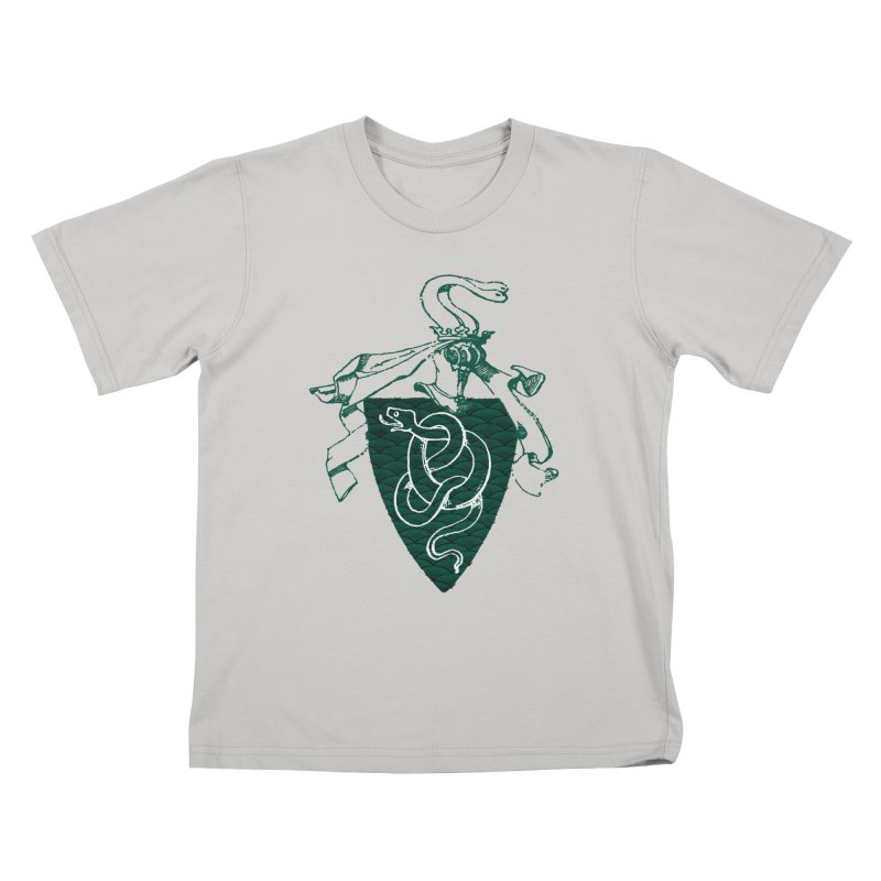 Slytherin House Kids T-Shirt by Wild Roots Artist Shop