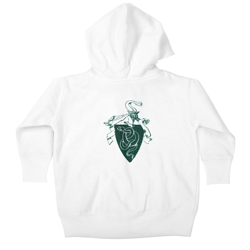 Slytherin House Kids Baby Zip-Up Hoody by Wild Roots Artist Shop