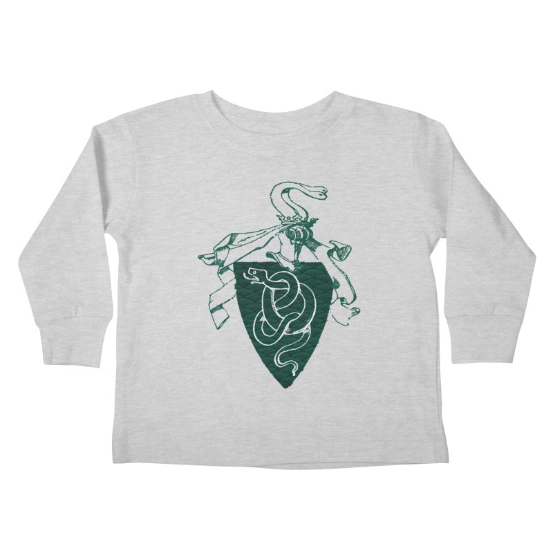 Slytherin House Kids Toddler Longsleeve T-Shirt by Wild Roots Artist Shop
