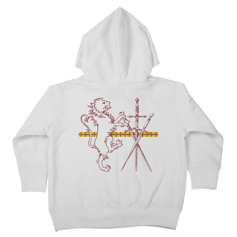Gryffindor House Kids Toddler Zip-Up Hoody by Wild Roots Artist Shop