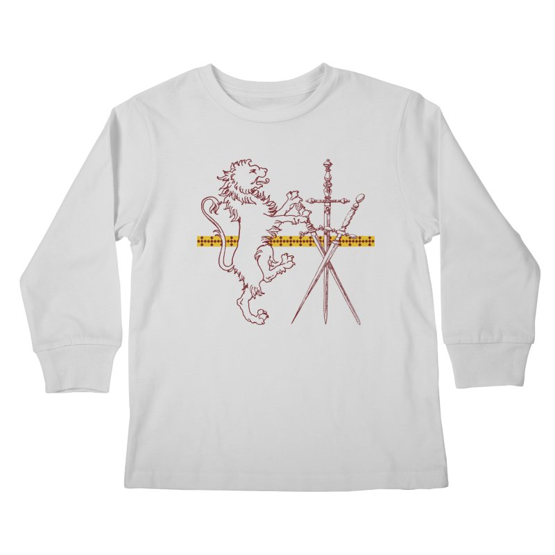 Gryffindor House Kids Longsleeve T-Shirt by Wild Roots Artist Shop