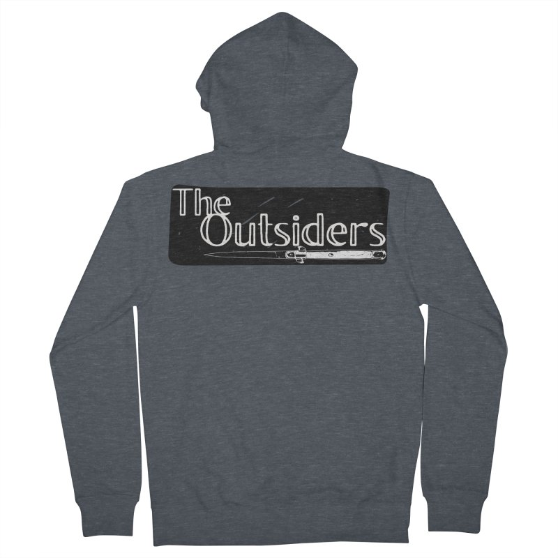tHE oUTSIDERS Women's French Terry Zip-Up Hoody by Wild Roots Artist Shop