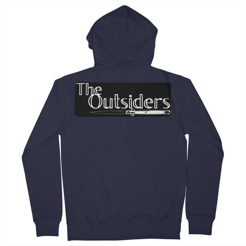 tHE oUTSIDERS Men's French Terry Zip-Up Hoody by Wild Roots Artist Shop