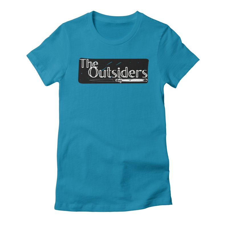 tHE oUTSIDERS Women's Fitted T-Shirt by Wild Roots Artist Shop