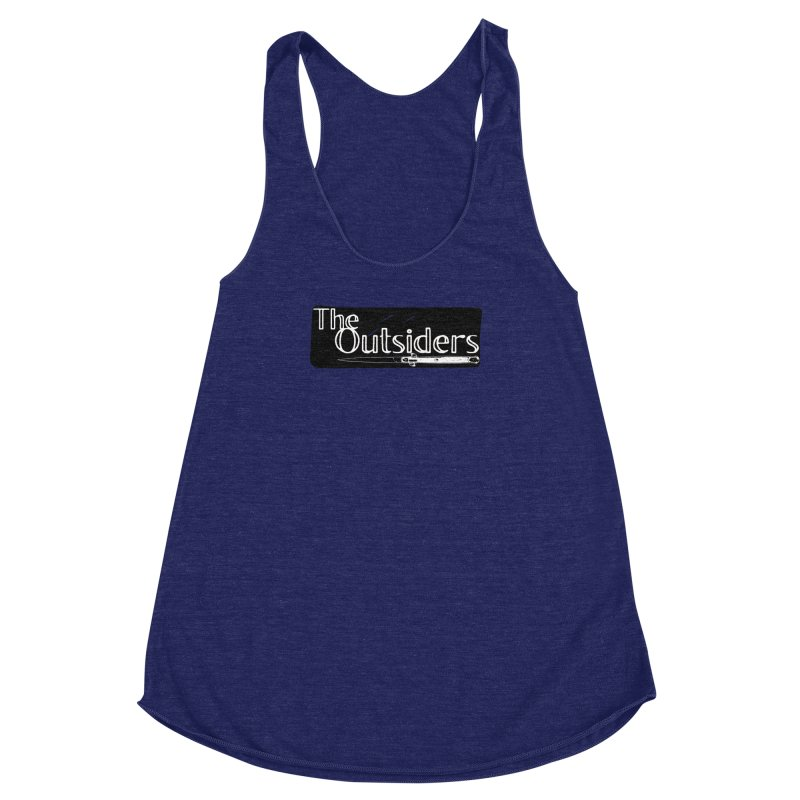 tHE oUTSIDERS Women's Racerback Triblend Tank by Wild Roots Artist Shop