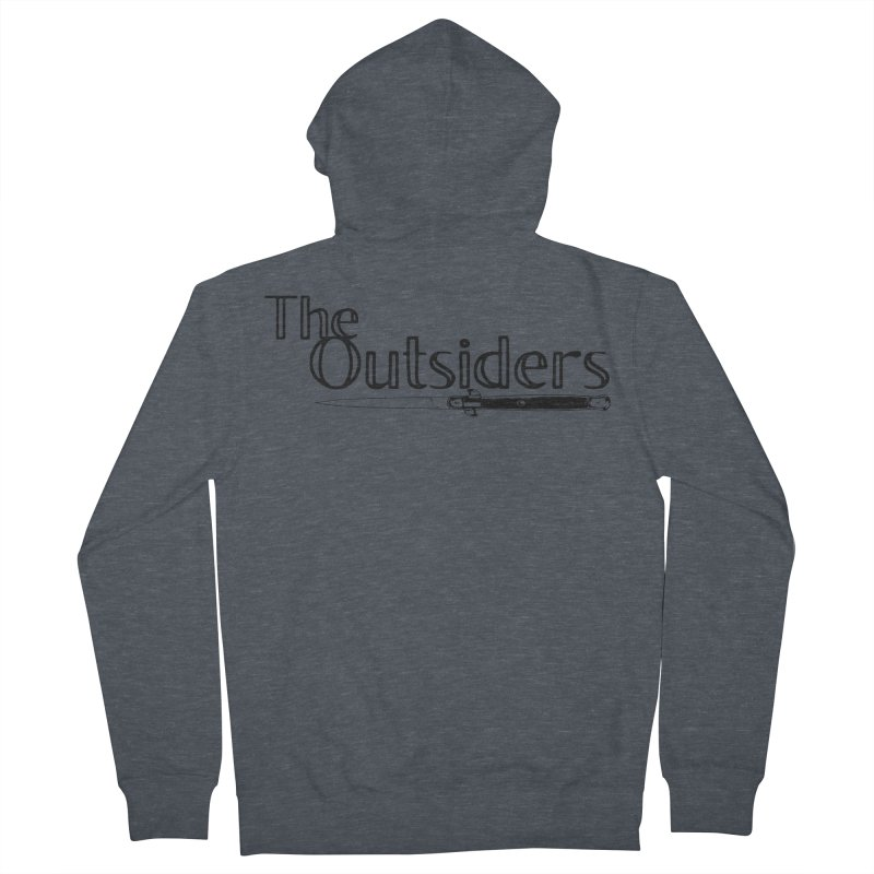 tHE oUTSIDERS (no background) Women's Zip-Up Hoody by Wild Roots Artist Shop