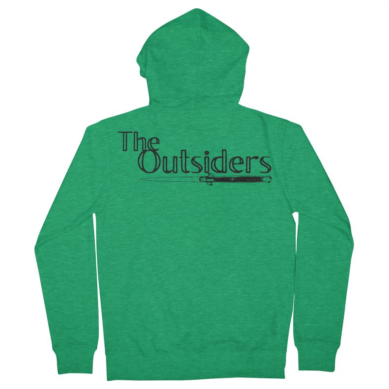 tHE oUTSIDERS (no background) Men's Zip-Up Hoody by Wild Roots Artist Shop