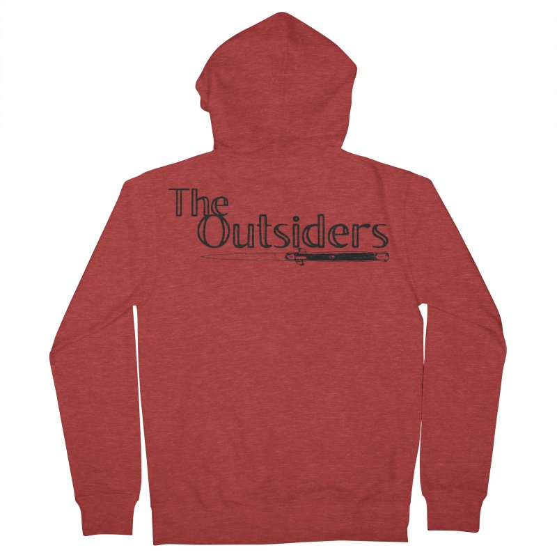 tHE oUTSIDERS (no background) Men's French Terry Zip-Up Hoody by Wild Roots Artist Shop