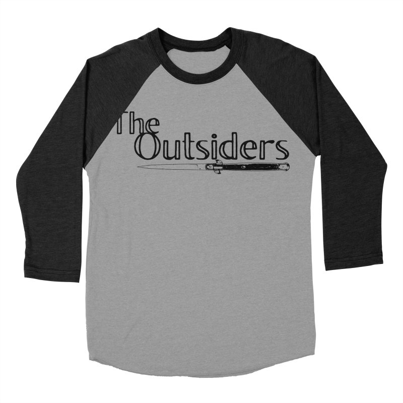 tHE oUTSIDERS (no background) Men's Baseball Triblend T-Shirt by Wild Roots Artist Shop