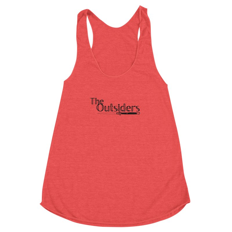 tHE oUTSIDERS (no background) Women's Racerback Triblend Tank by Wild Roots Artist Shop
