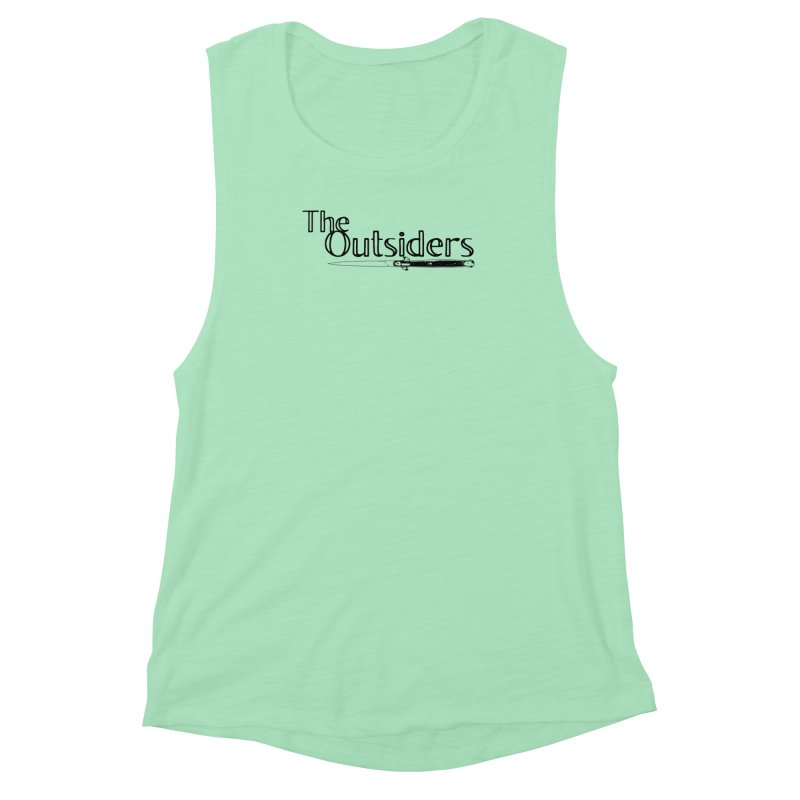 tHE oUTSIDERS (no background) Women's Muscle Tank by Wild Roots Artist Shop