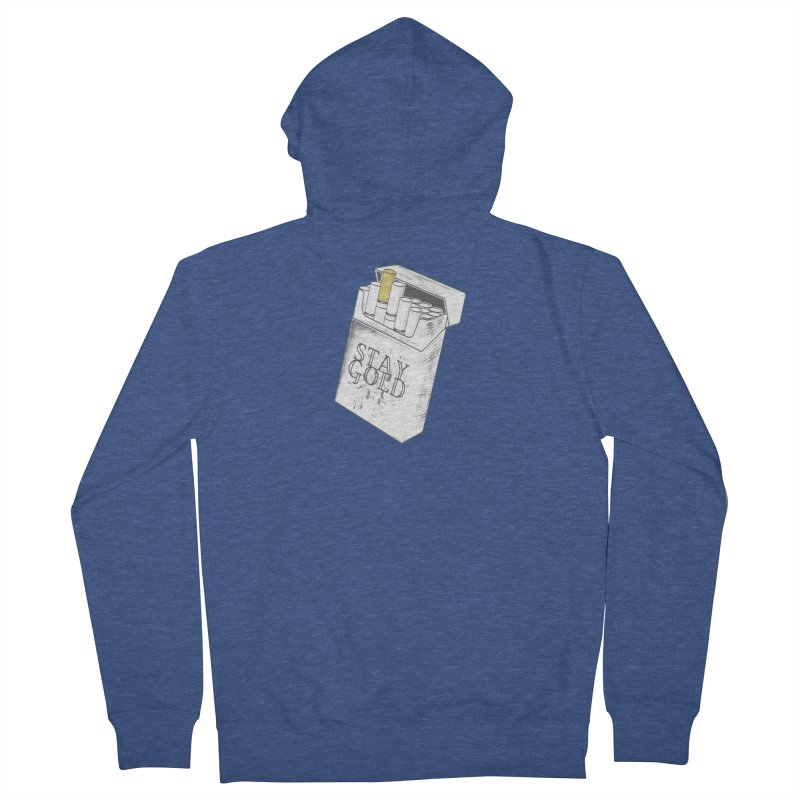 Stay Gold Men's Zip-Up Hoody by Wild Roots Artist Shop