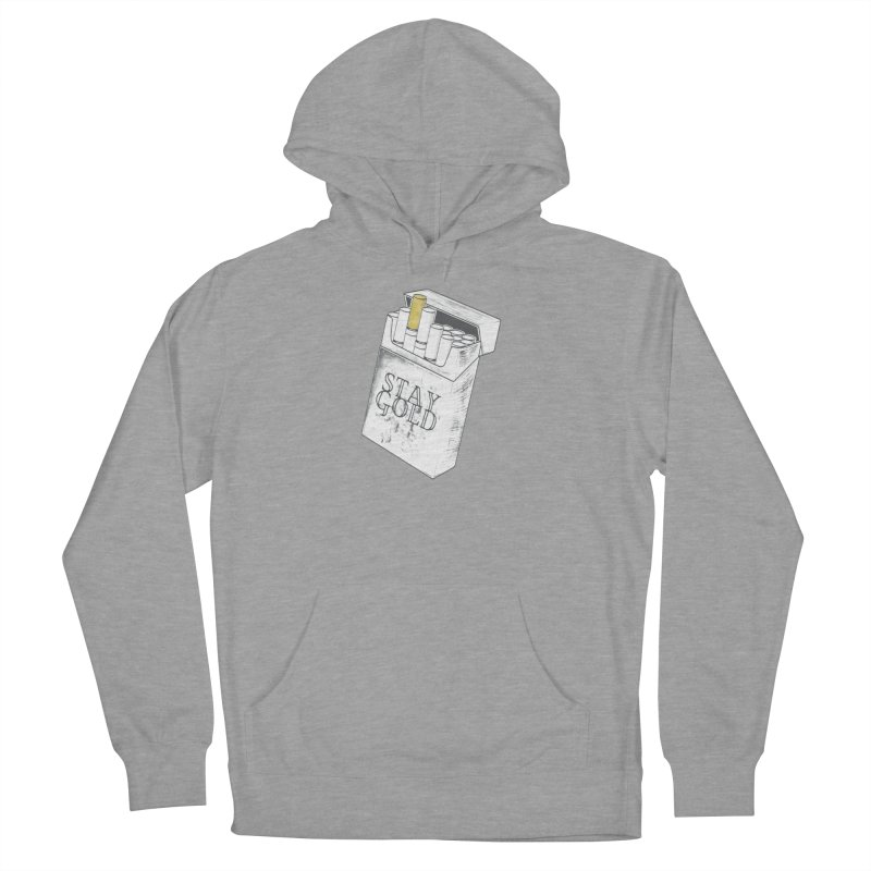 Stay Gold Women's French Terry Pullover Hoody by Wild Roots Artist Shop