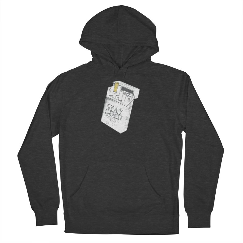 Stay Gold Men's French Terry Pullover Hoody by Wild Roots Artist Shop