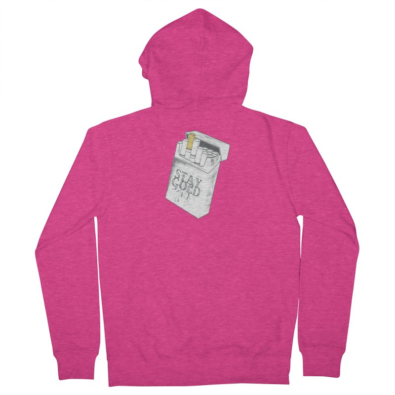 Stay Gold Women's French Terry Zip-Up Hoody by Wild Roots Artist Shop