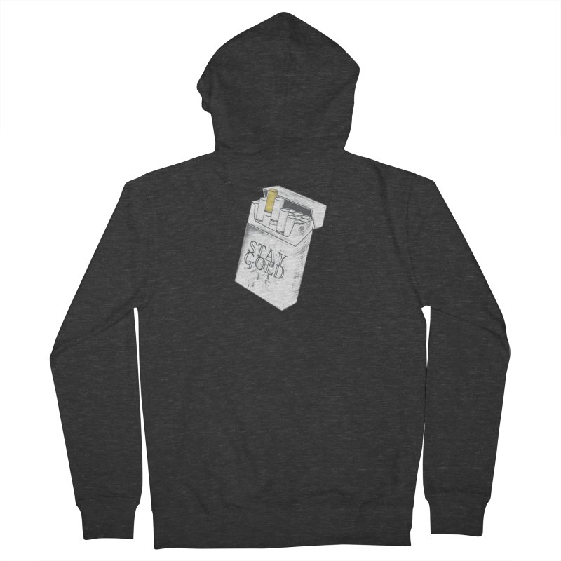 Stay Gold Men's French Terry Zip-Up Hoody by Wild Roots Artist Shop