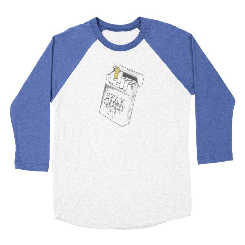 Stay Gold Men's Baseball Triblend Longsleeve T-Shirt by Wild Roots Artist Shop