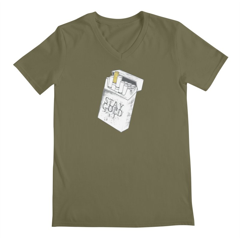 Stay Gold Men's V-Neck by Wild Roots Artist Shop