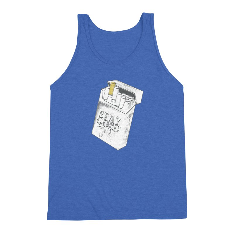 Stay Gold Men's Triblend Tank by Wild Roots Artist Shop