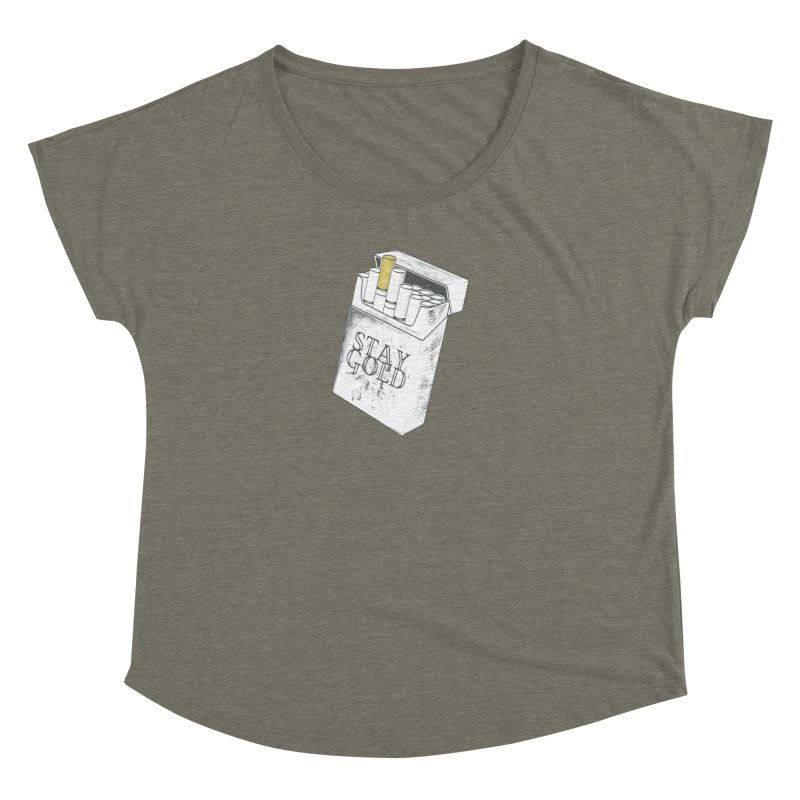 Stay Gold Women's Dolman Scoop Neck by Wild Roots Artist Shop