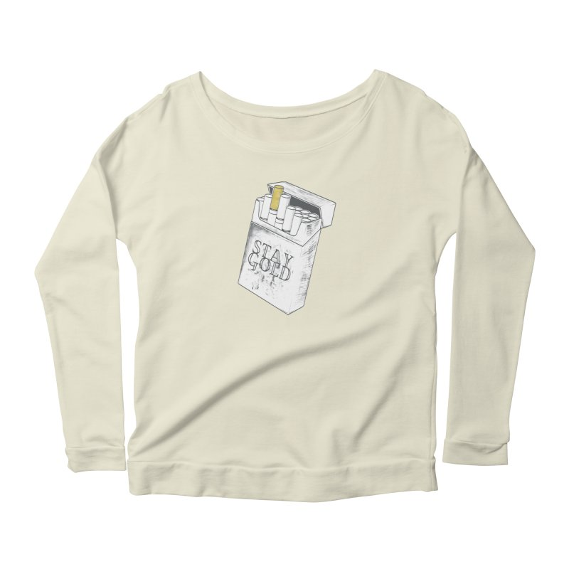 Stay Gold Women's Scoop Neck Longsleeve T-Shirt by Wild Roots Artist Shop