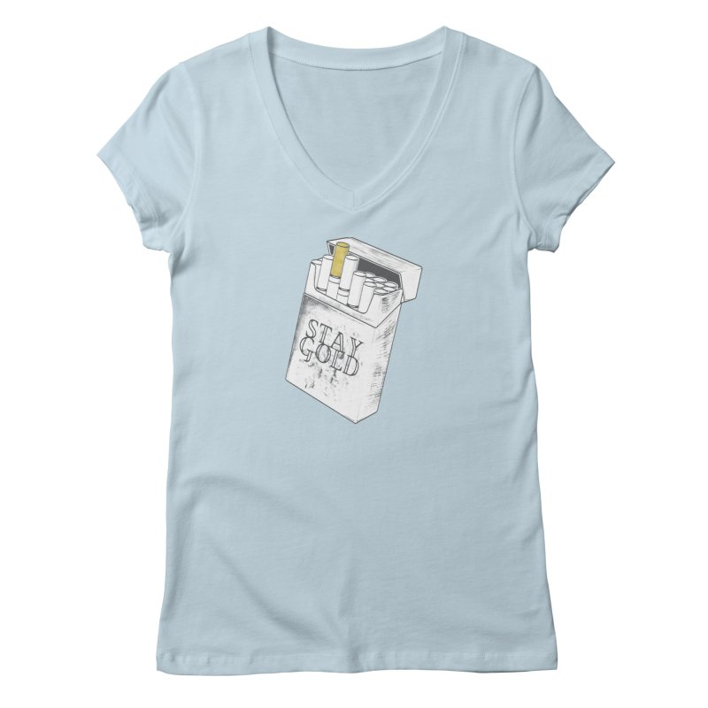 Stay Gold Women's V-Neck by Wild Roots Artist Shop