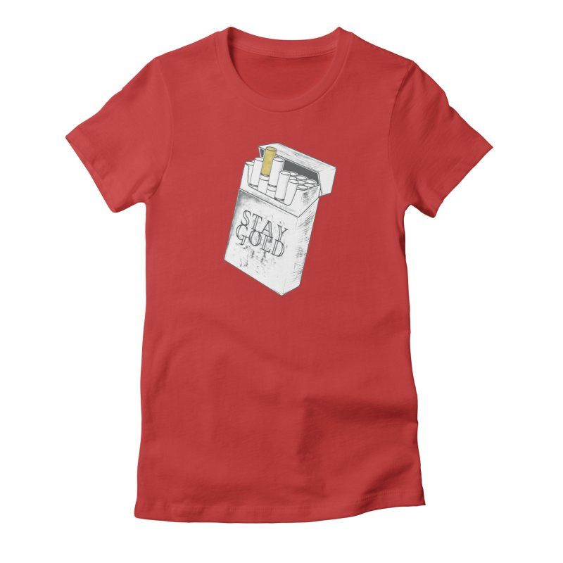 Stay Gold Women's Fitted T-Shirt by Wild Roots Artist Shop