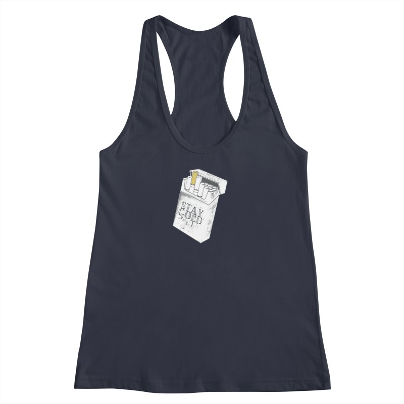 Stay Gold Women's Racerback Tank by Wild Roots Artist Shop