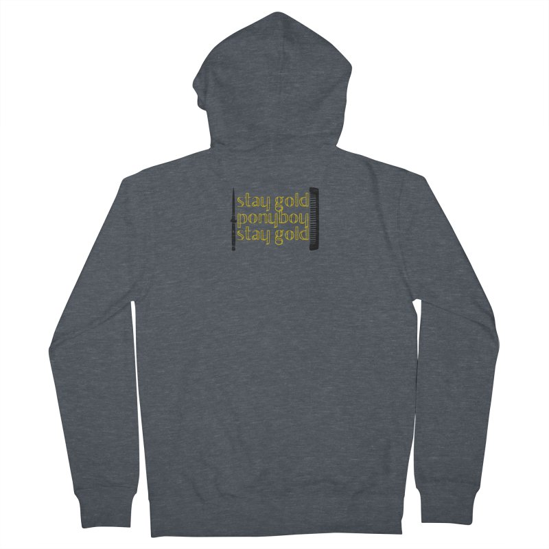 Stay Gold Ponyboy Stay Gold Men's Zip-Up Hoody by Wild Roots Artist Shop