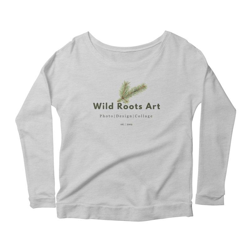 Wild Roots Logo Women's Longsleeve Scoopneck  by Wild Roots Artist Shop