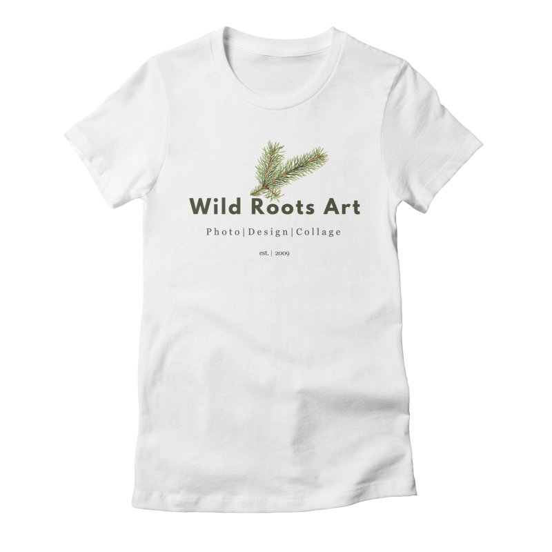Wild Roots Logo Women's Fitted T-Shirt by Wild Roots Artist Shop