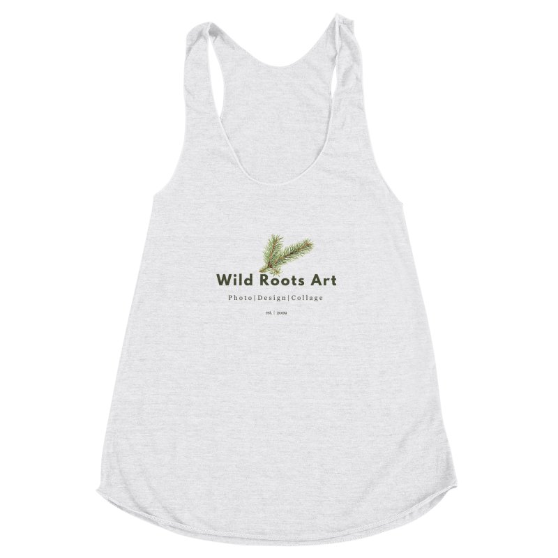 Wild Roots Logo Women's Racerback Triblend Tank by Wild Roots Artist Shop