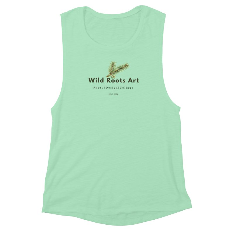 Wild Roots Logo Women's Muscle Tank by Wild Roots Artist Shop