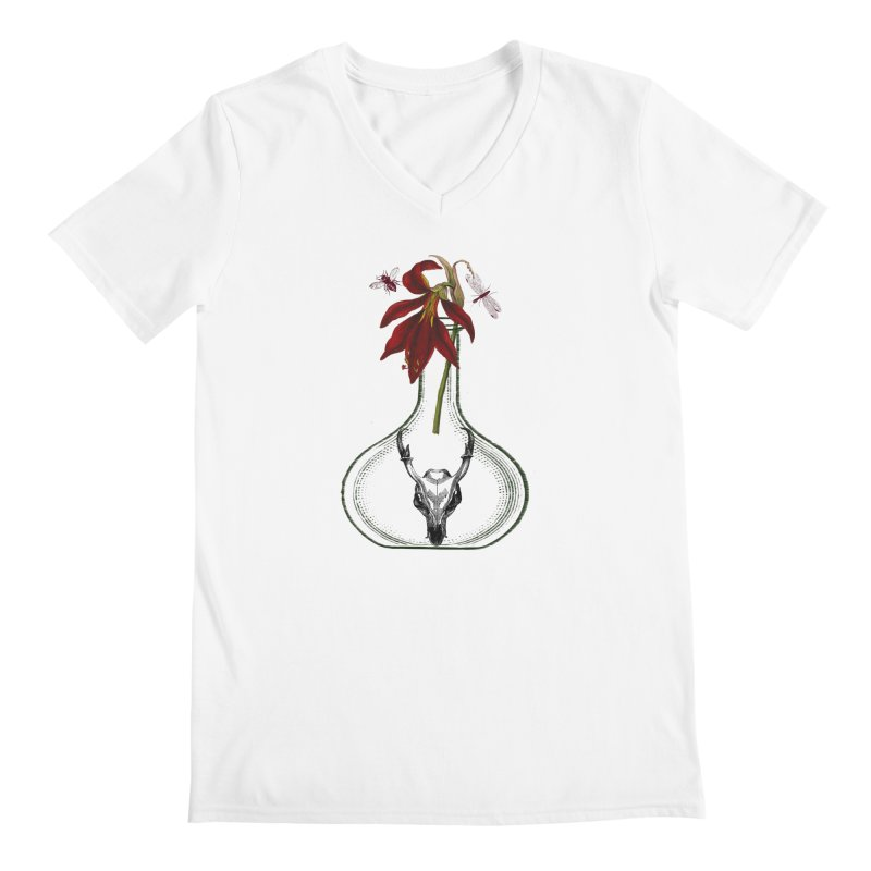 Apothecary Jar Men's V-Neck by Wild Roots Artist Shop