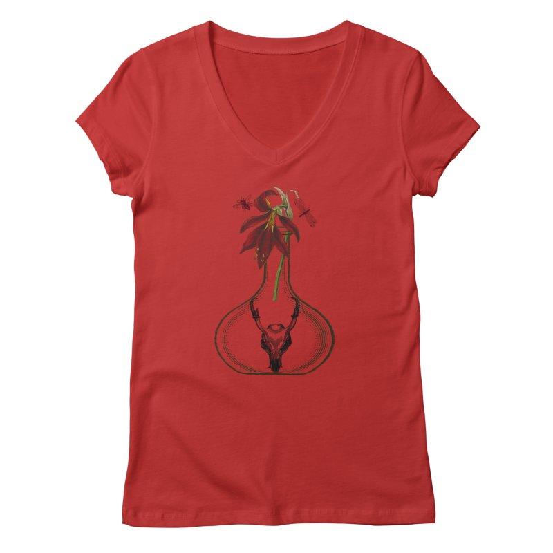 Apothecary Jar Women's Regular V-Neck by Wild Roots Artist Shop