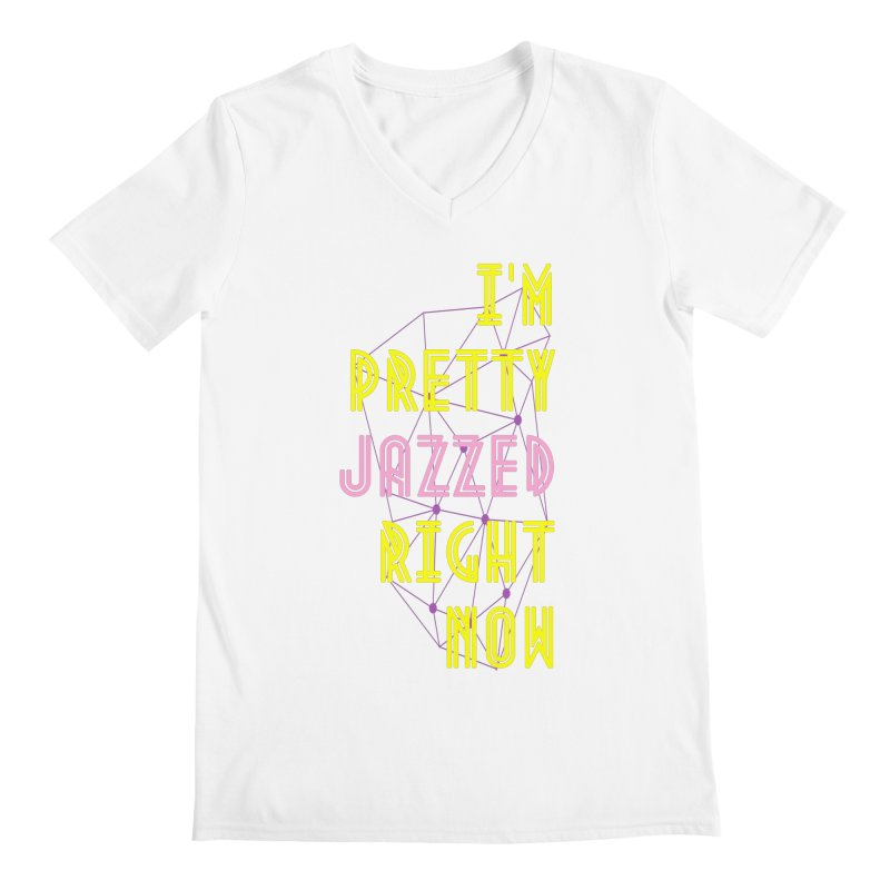 Jazzed Men's V-Neck by Wild Roots Artist Shop