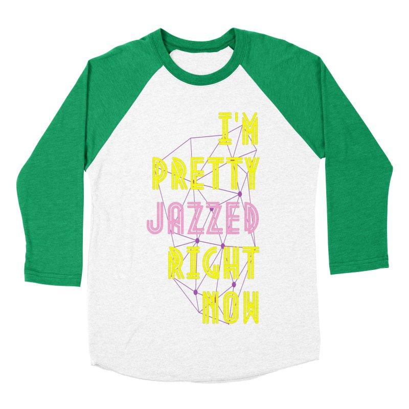 Jazzed Women's Baseball Triblend Longsleeve T-Shirt by Wild Roots Artist Shop