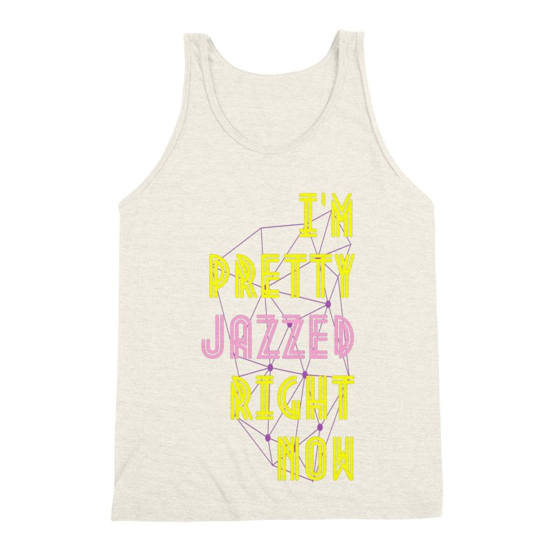 Jazzed Men's Triblend Tank by Wild Roots Artist Shop