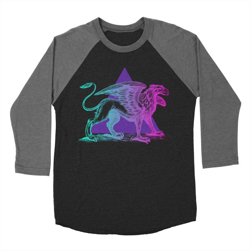 Griffin V2.0 Men's Baseball Triblend Longsleeve T-Shirt by Wild Roots Artist Shop