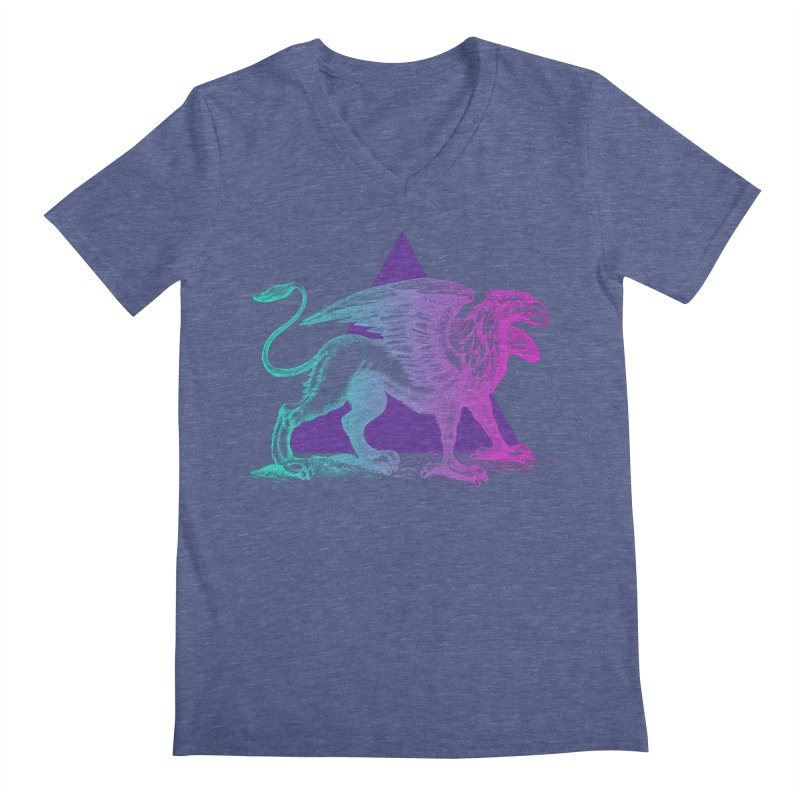 Griffin V2.0 Men's Regular V-Neck by Wild Roots Artist Shop