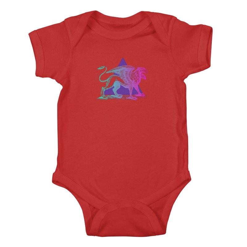 Griffin V2.0 Kids Baby Bodysuit by Wild Roots Artist Shop