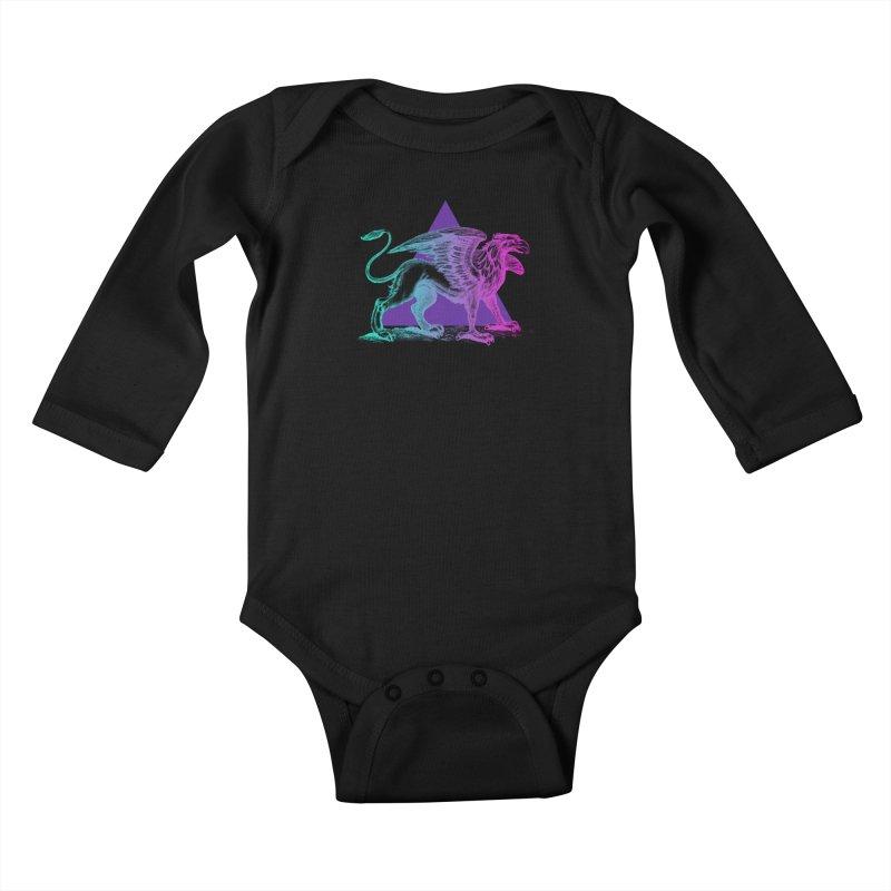 Griffin V2.0 Kids Baby Longsleeve Bodysuit by Wild Roots Artist Shop