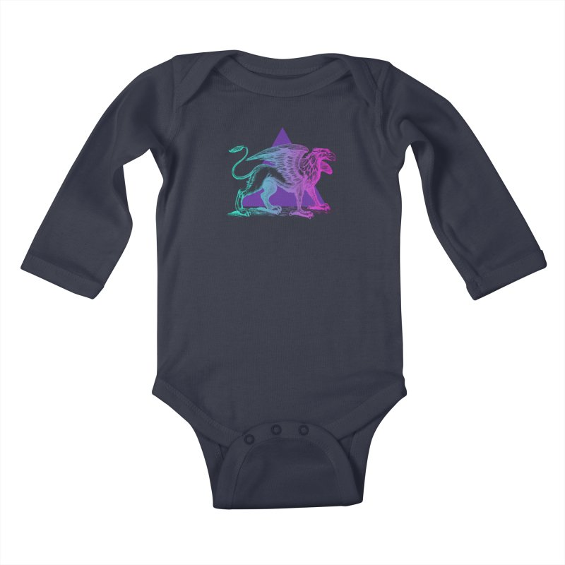 Griffin V2.0 Kids Baby Longsleeve Bodysuit by Wild Roots Artist Shop