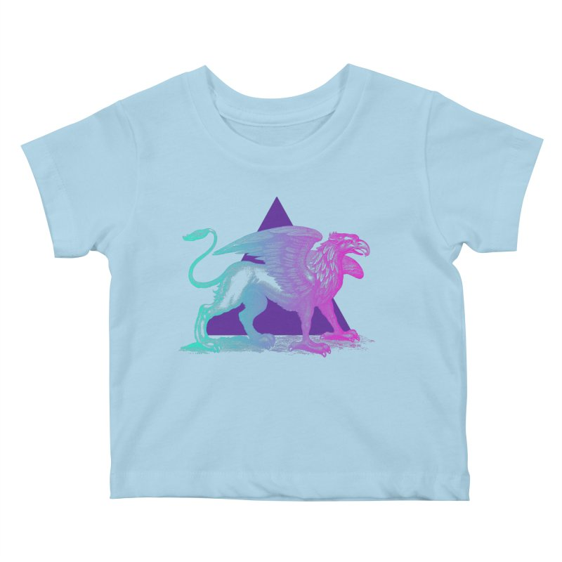 Griffin V2.0 Kids Baby T-Shirt by Wild Roots Artist Shop
