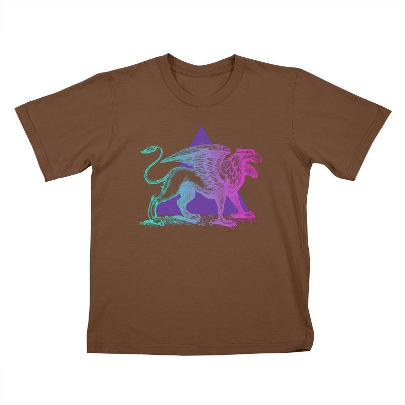Griffin V2.0 Kids T-Shirt by Wild Roots Artist Shop