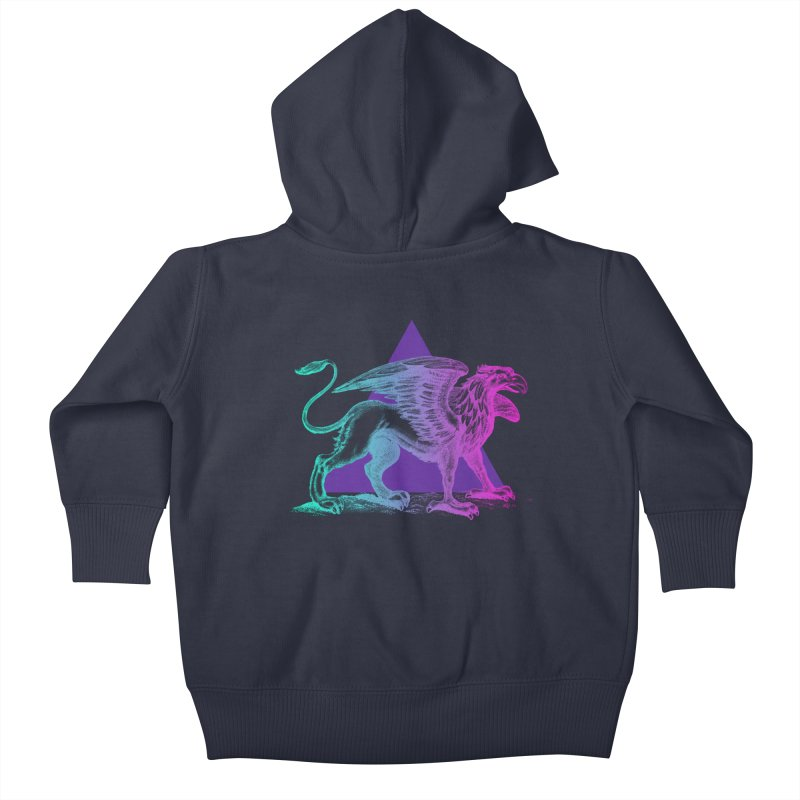 Griffin V2.0 Kids Baby Zip-Up Hoody by Wild Roots Artist Shop