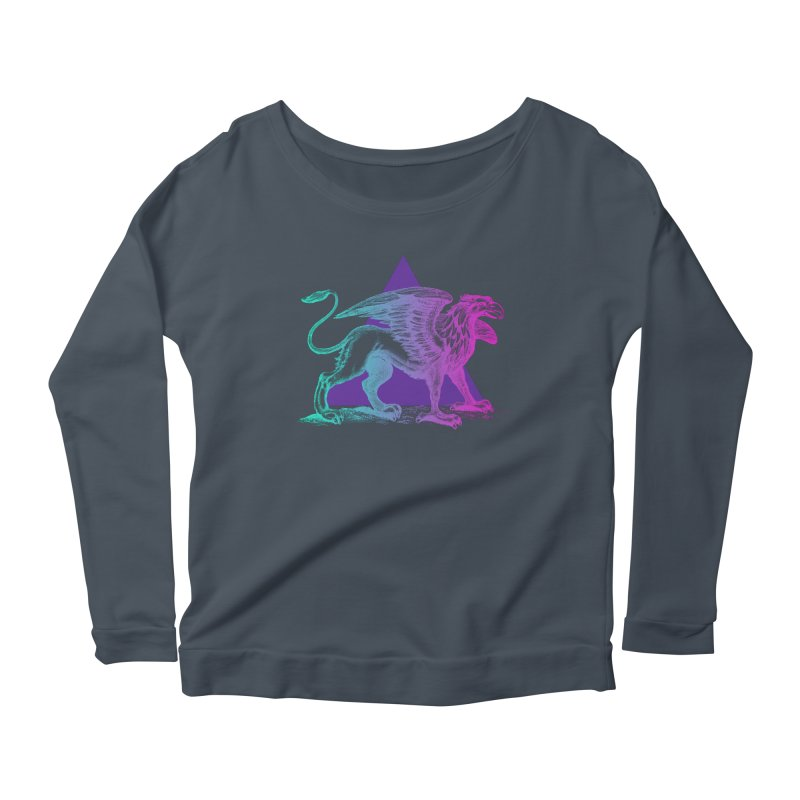 Griffin V2.0 Women's Scoop Neck Longsleeve T-Shirt by Wild Roots Artist Shop