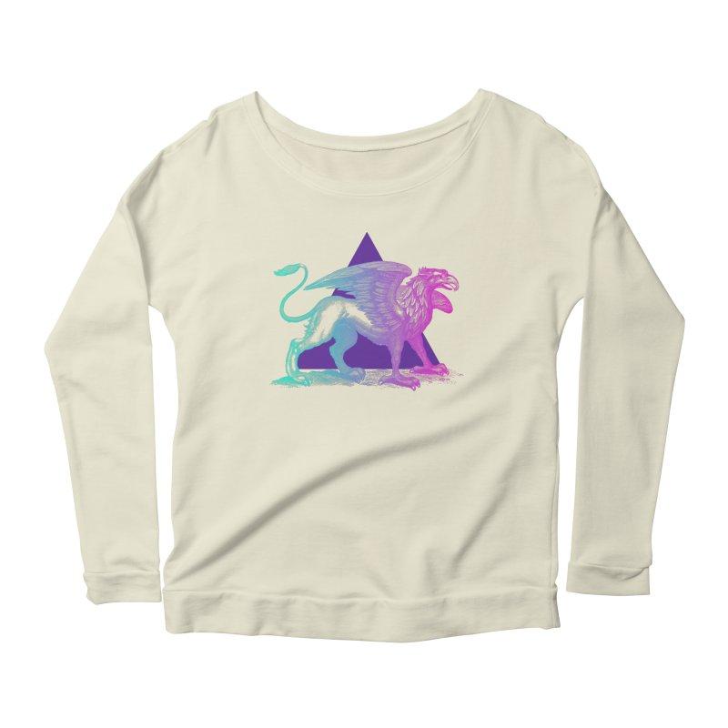 Griffin V2.0 Women's Scoop Neck Longsleeve T-Shirt by Wild Roots Artist Shop